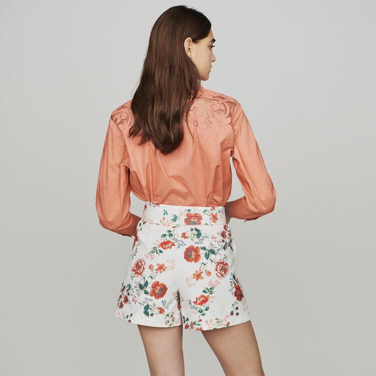 Jeans-Shorts mit Blumen-Print : Röcke & Shorts farbe IMPRIME