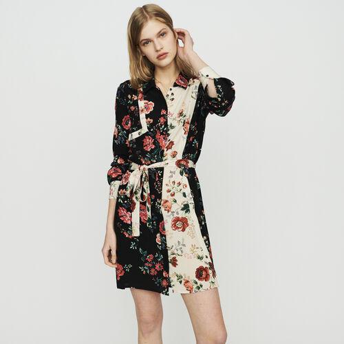 Robe-chemise à imprimé floral : Kleider farbe IMPRIME