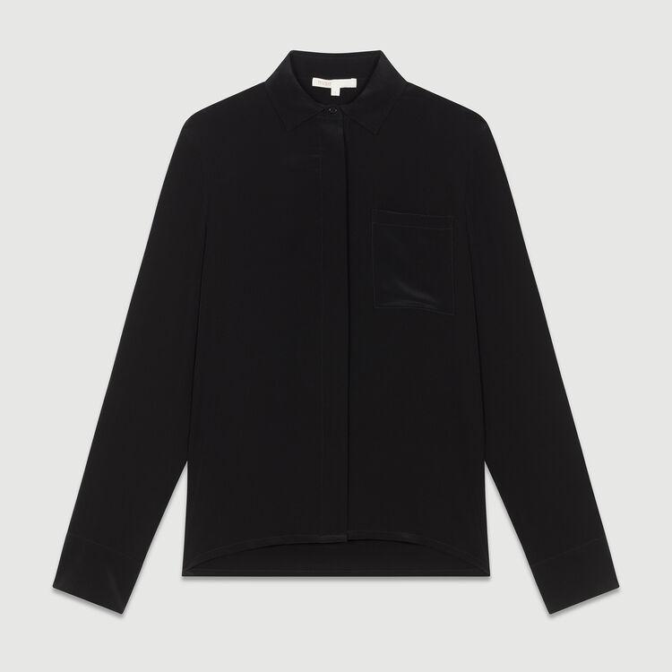 Seidenbluse : Hemden farbe Schwarz
