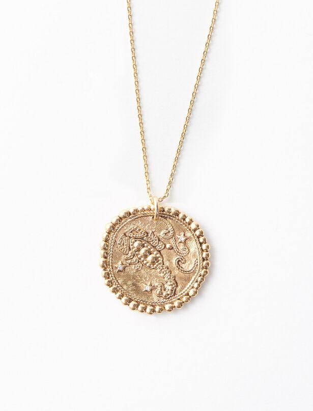 마쥬 MAJE Sternzeichen Skorpion Halskette,Antik Messing