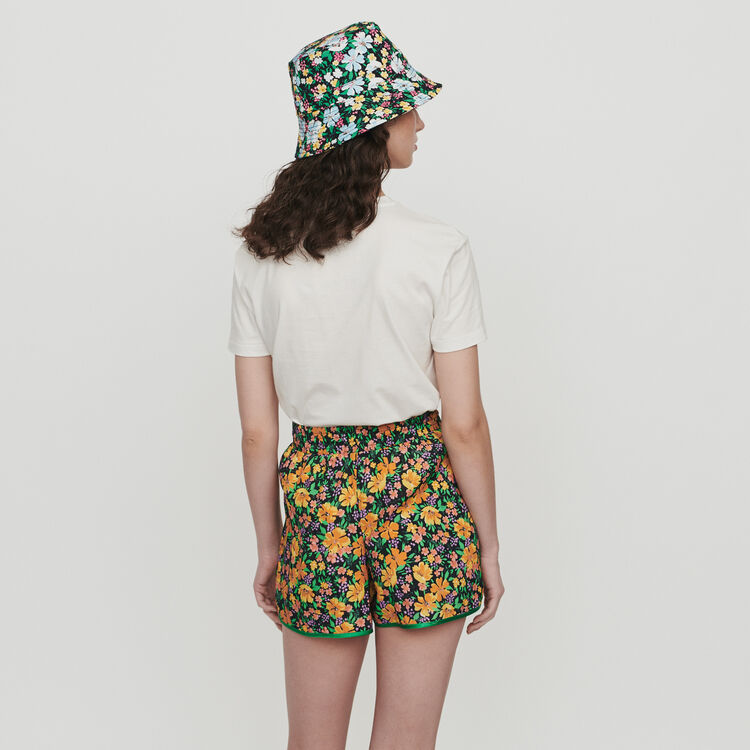 Fliessender Short mit Blumen Print : Röcke & Shorts farbe Print