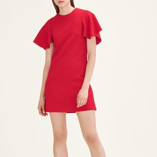 Kleid mit Schmetterlingsärmeln : Kleider farbe Rot