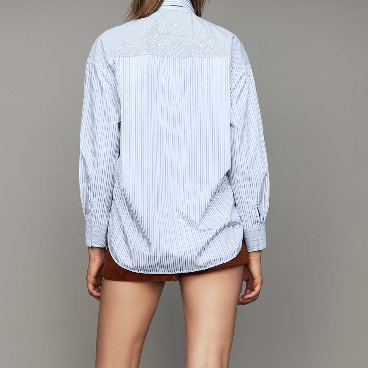 Gestreiftes Baumwoll-Hemd : Hemden farbe Gestreift