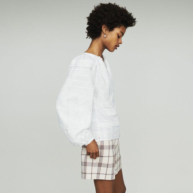 Guipure Bluse : Tops & Hemden farbe Weiss