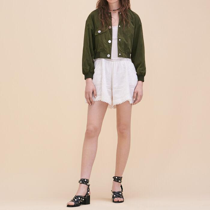 Combishorts aus Spitze : Röcke und Shorts farbe Ecru