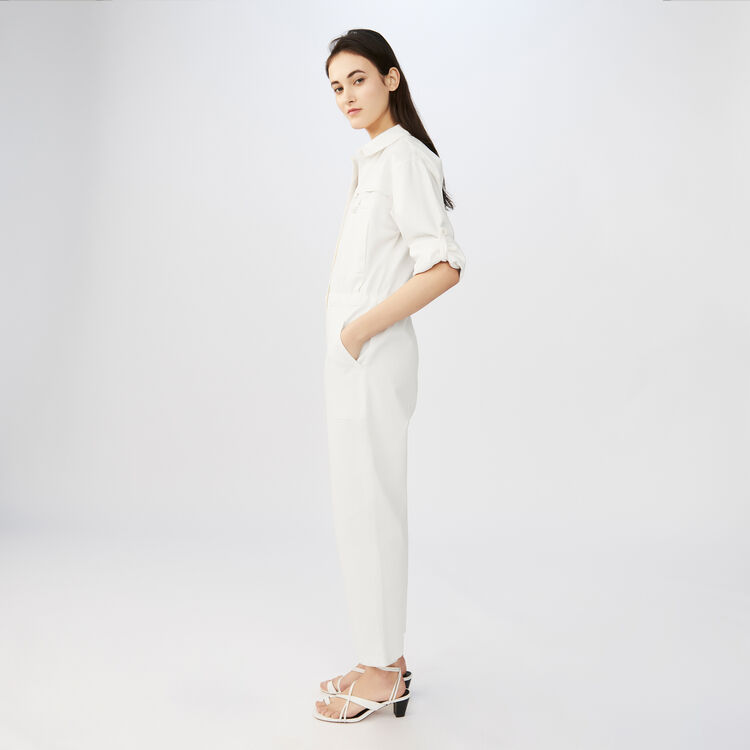 Baumwoll-Jumpsuit im Worker-Stil : staff private sale farbe ECRU
