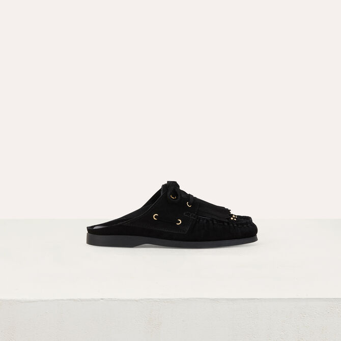 Float shoes in suede -  - MAJE