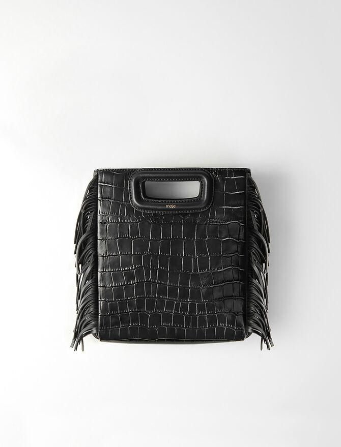 M-Tasche aus Leder im Krokodil-Stil -  - MAJE