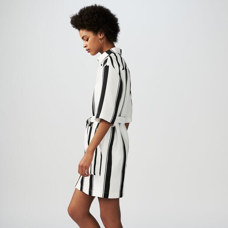 Gestreiftes Hemd-Kleid : Kleider farbe Gestreift