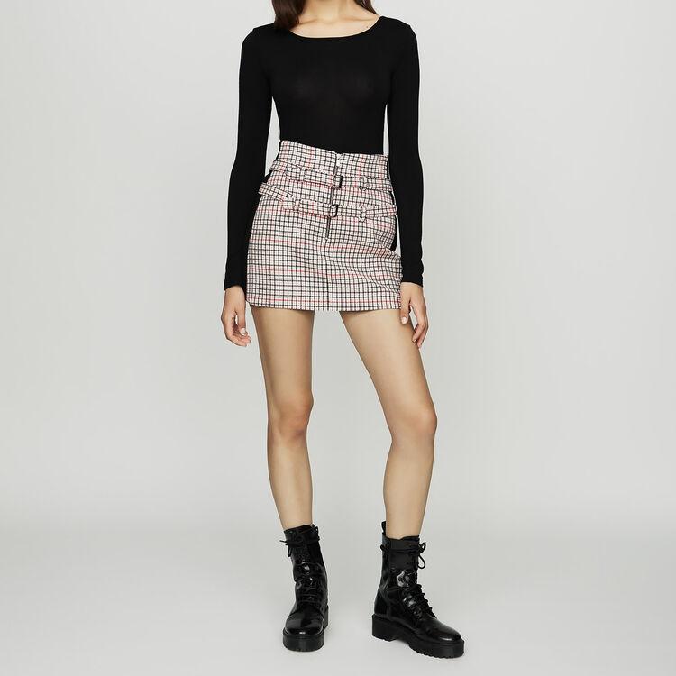 Langärmeliger Jersey-Body : Tops farbe Schwarz