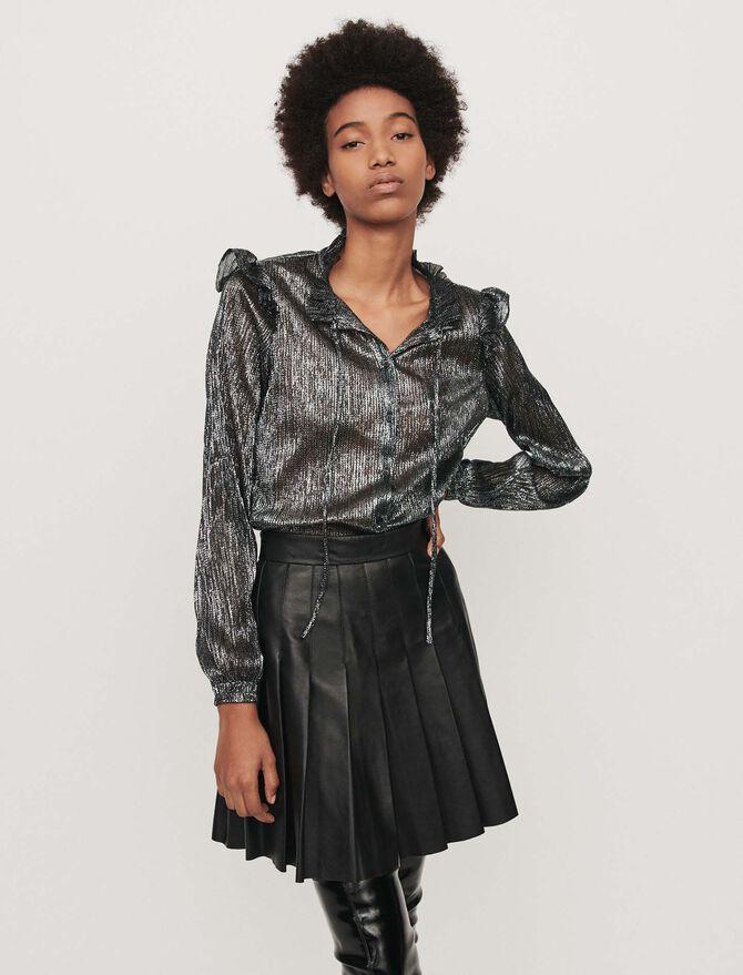 Rüschen Bluse aus Lurex - SoldesFR_Tops_chemises - MAJE