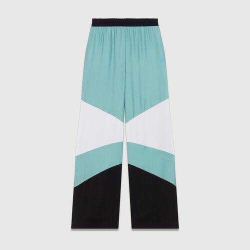 Weite bunte Hose : Bekleidung farbe Mehrfarbigen