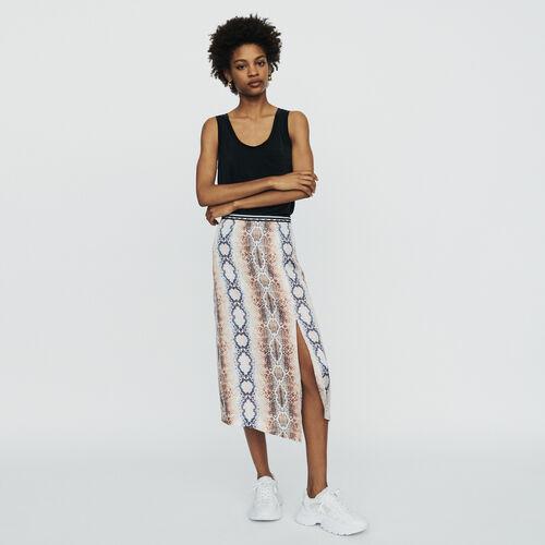 Langer Rock mit Python-Print : Röcke & Shorts farbe IMPRIME