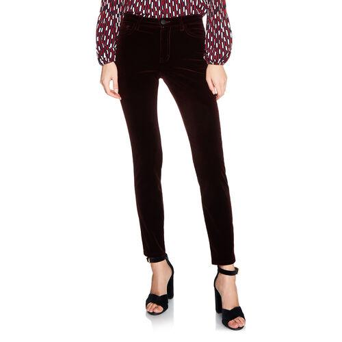 5-Pocket-Jeans aus Velours : Pantalons & Jeans farbe BORDEAUX