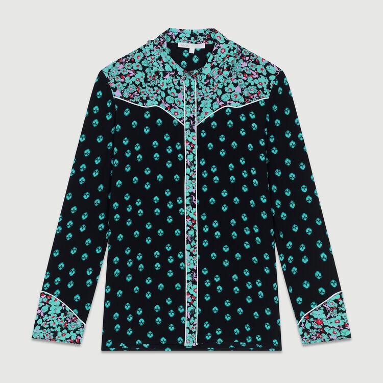 Weich fallendes bedrucktes Hemd : Hemden farbe IMPRIME