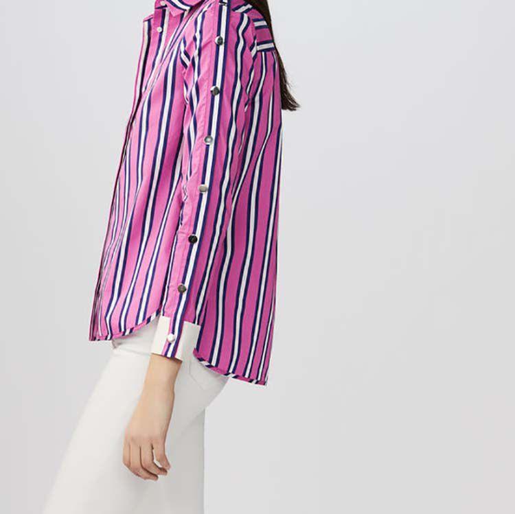 Gestreiftes Baumwollhemd : Hemden farbe Gestreift