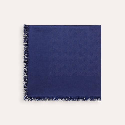 XXL-Schal aus Baumwollgemisch : Accessoires farbe Schwarz