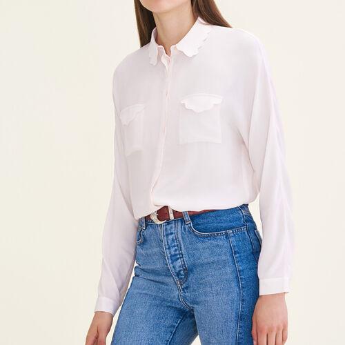 Bluse aus Seidengemisch : Tops farbe Rosa