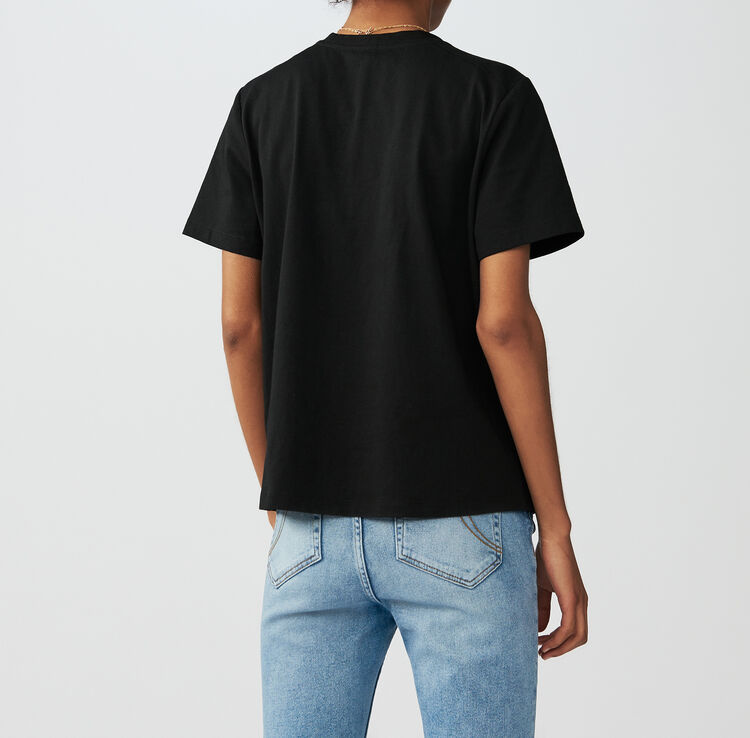 Loose Fit T-Shirt mit Schmuck-Schleife : T-Shirts farbe