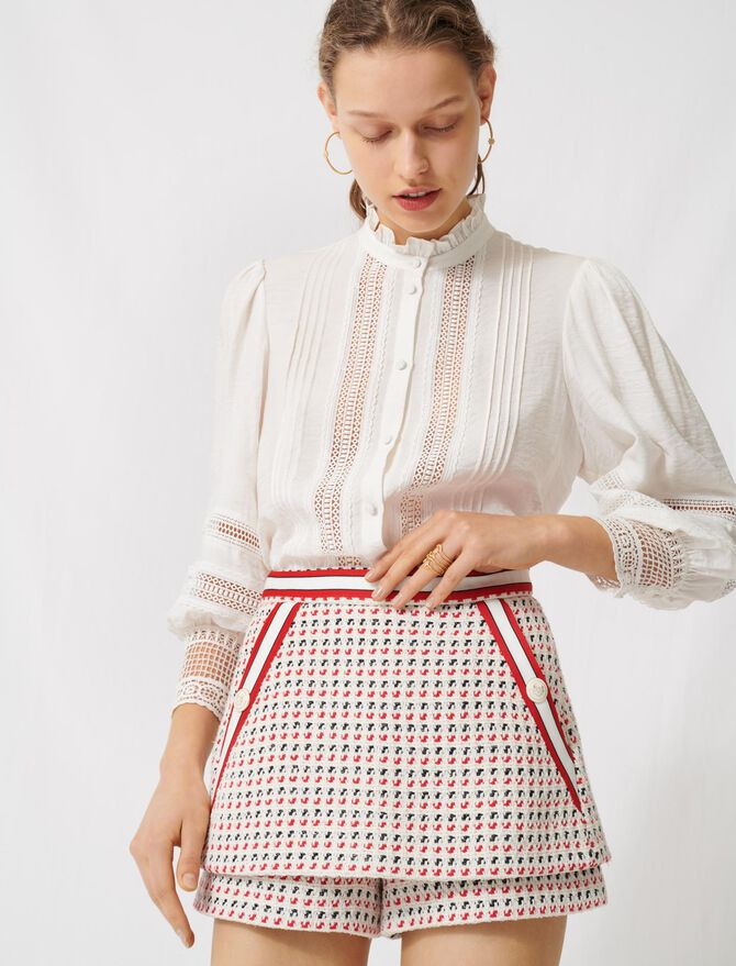 Trompe-l'œil-Hosenrock in Tweed-Optik - Röcke & Shorts - MAJE