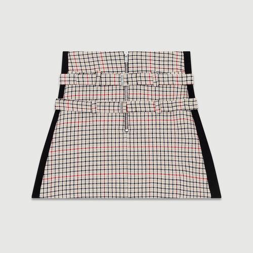 Karierter Trompe-l'oeil-Short : Röcke & Shorts farbe CARREAUX