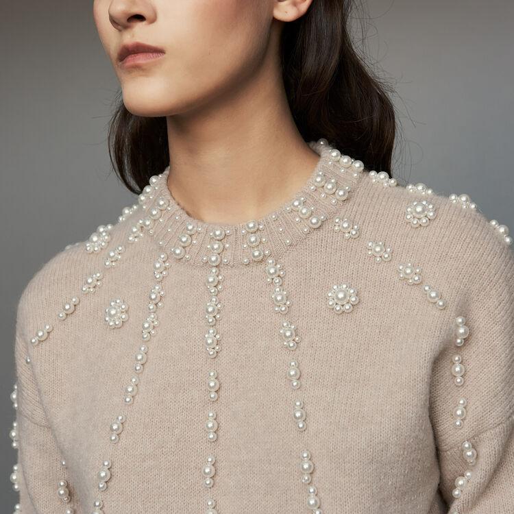 Oversize-Pullover aus Mischwolle : Strickwaren farbe Beige