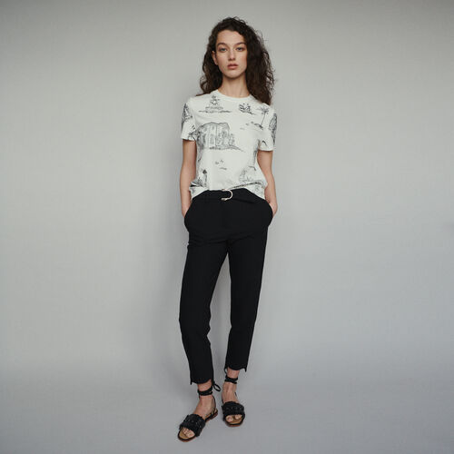 Gerade Hose mit Gürtel : Hosen farbe Schwarz