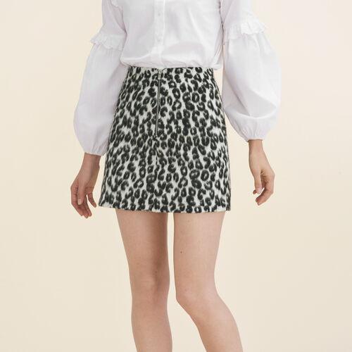 Ausgestellter Rock mit Leopardmotiv : Jupes & Shorts farbe Print