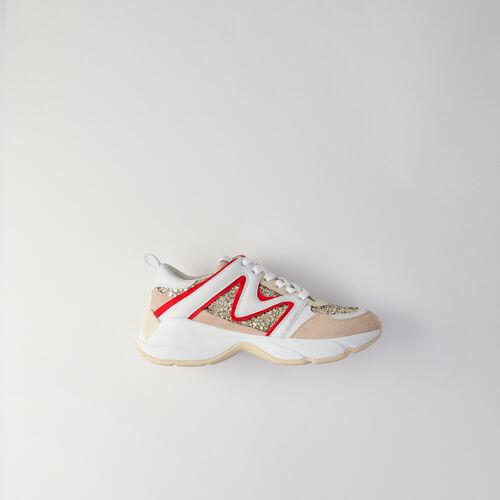 WW22 glitter sneakers : Sneakers farbe Silber