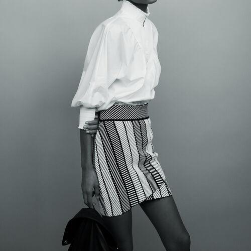 Wickelrock aus Strick : Röcke & Shorts farbe Mehrfarbigen