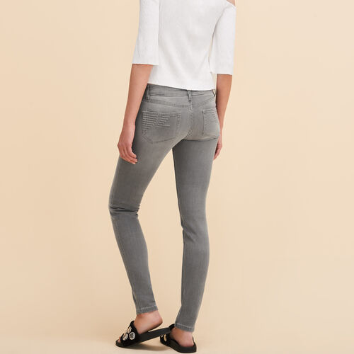 Skinny-Jeans : Non Soldés farbe Grau
