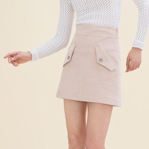 Kurzer Rock aus Samt : Jupes & Shorts farbe Rosa