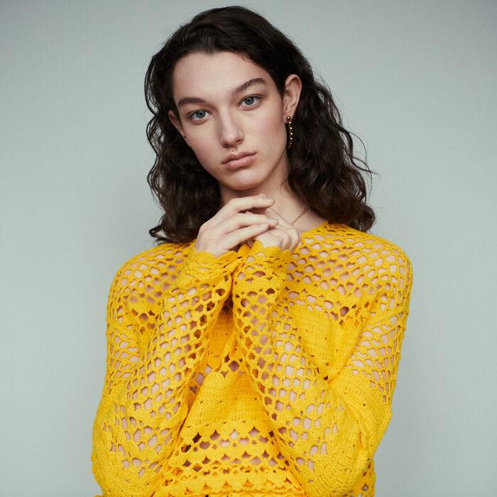 Oversize Strick Pullover : Pullover & Strickjacken farbe Gelb