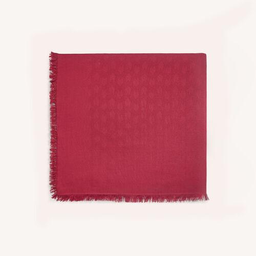 XXL-Schal aus Baumwollgemisch : Schals & Ponchos farbe Himbeerrot