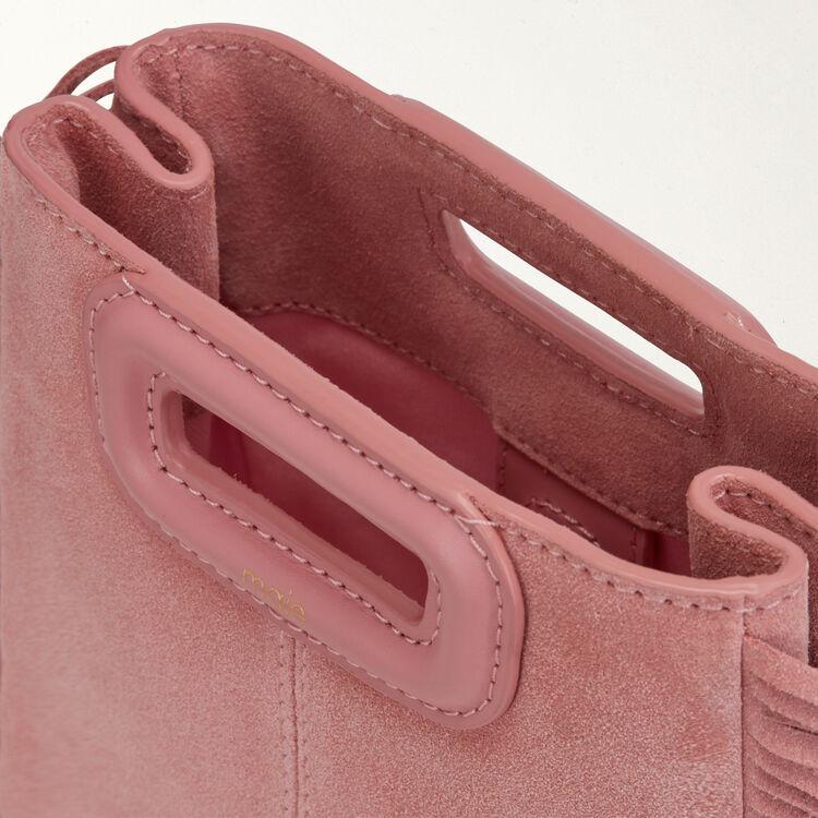 M Mini Tasche aus Veloursleder mit Kette : M Mini farbe Rosa