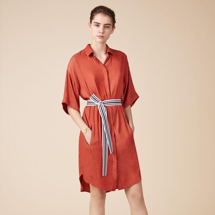 Fließendes Hemdkleid -  - MAJE
