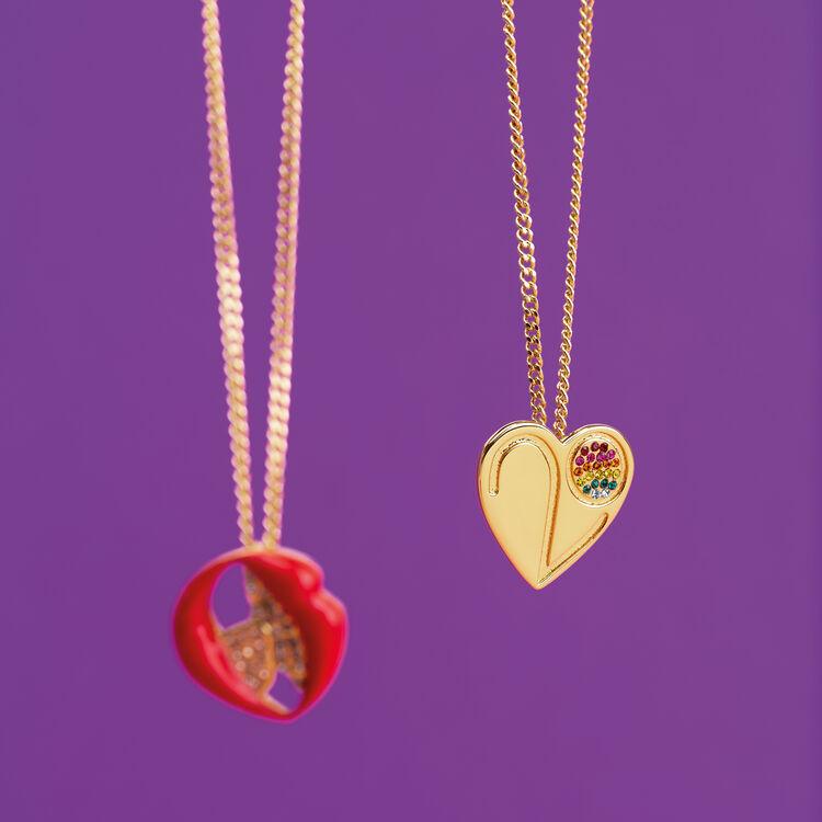 Kette mit Herz-Anhänger : Gadgets farbe OR