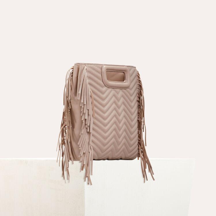 M Tasche aus gestepptem Leder : Taschen farbe