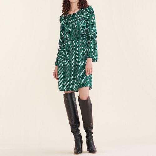 Fließendes Kleid mit Print : Robes farbe IMPRIME