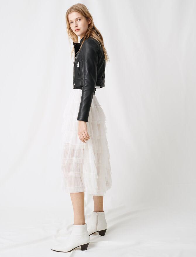 Midi-Rock aus makellosem Tüll - Röcke & Shorts - MAJE