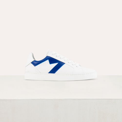 Ledersneakers M-Ausschnitt : Schuhe farbe Blau