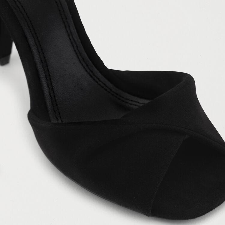 Leather high heals sandals : Pumps farbe Schwarz