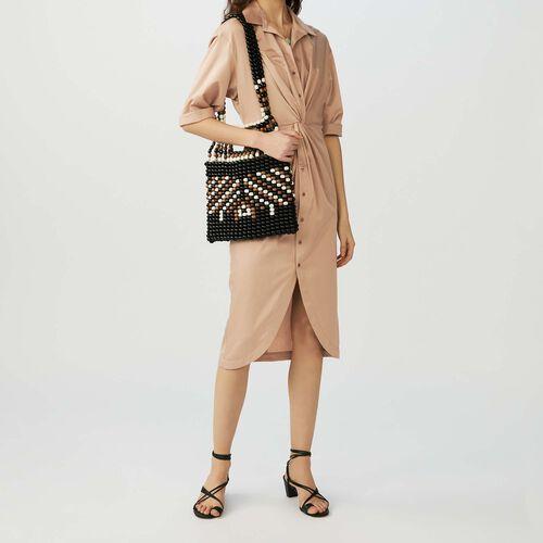 Hemdkleid mit Draperie : Kleider farbe BEIGE SABLE