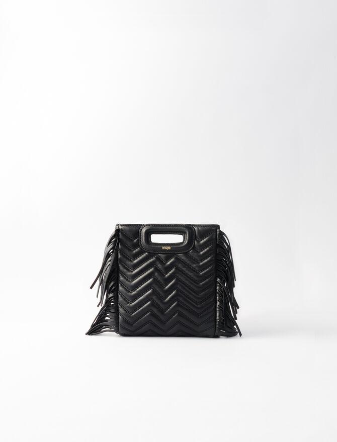 M Mini-Tasche aus Steppleder - M Mini - MAJE