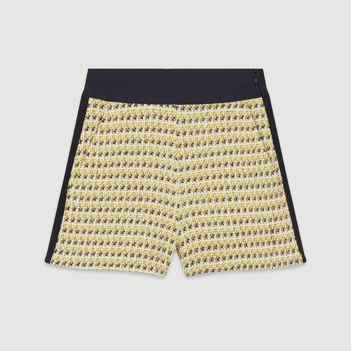 Short aus Tweed und Lurex : Röcke & Shorts farbe Gelb