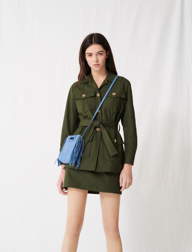 Mantel mit Gürtel im Safari-Stil - Mäntel & Jacken - MAJE