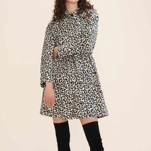 Mantel mit Leopardmotiv : Mäntel farbe IMPRIME