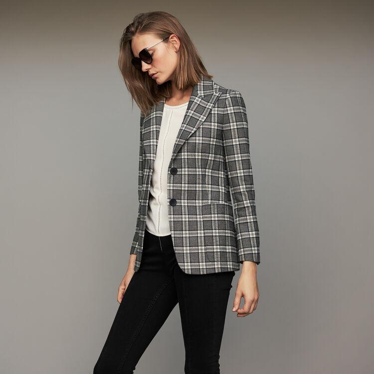Karo-Blazer : Blazers farbe CARREAUX