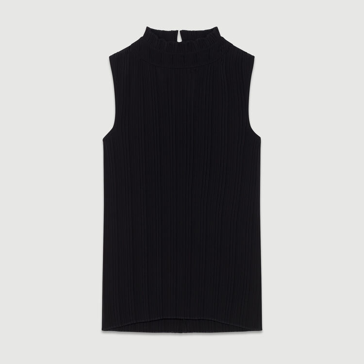 Ärmelloses Plissee-Top : Neue Kollektion farbe Schwarz