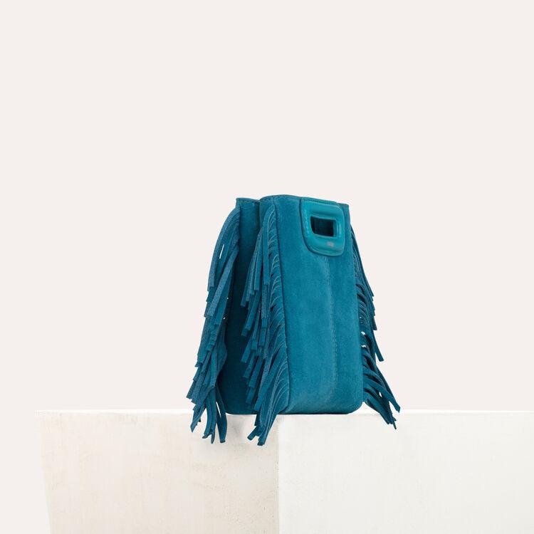 M Mini Tasche aus Veloursleder mit Kette : M Mini farbe Grün